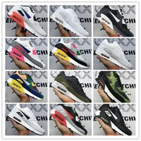 Wholesale air style black shoes for sale - Group buy 2020 New Classic Men And Women Style Black Red Colorful White Running Shoes Fashion Air Cushion Surface Breathable Sports Sneakers US