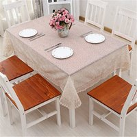Wholesale embroidered tablecloth free shipping resale online - American garden lace tablecloth for banquet cloth the family decorates Embroidered Tablecloth