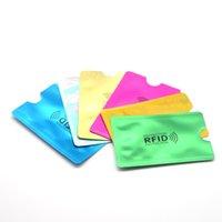ingrosso lettore dell'uomo-Alluminio multicolore Laser Anti Rfid Raccoglitore Blocco di blocco Reader Titolare della carta di credito ID Carta di credito Caso Uomo Protezione Metallo credito