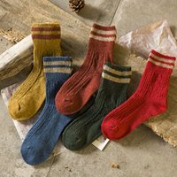 мужские полосатые носки оптовых-1Pair  New Stripe Style Men Socks Causal Thermal Autumn Winter Man Long Socks Meias Masculinas Fashion Male