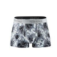 estilos novos do roupa interior dos homens s venda por atacado-Novas cuecas boxers para homens Cuecas masculinas Impressão recreativa0 Moda permeável ao ar Roupa interior de ângulo plano com muitos estilos L-3XL