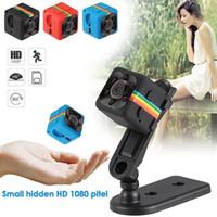 dash cam night vision gps toptan satış-SQ11 Full HD 1080 P Gece Görüş Kamera Taşınabilir Mini Mikro Spor Kameralar Video Kaydedici Kamera DV Kamera CCTV Araba DVR Çizgi Kam IR