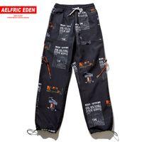 jogger sweatpants stars toptan satış-Aelfric Eden Yaz Joggers Yıldız Baskı Harajuku Sweatpants Moda Streetwear Rahat Parça Pantolon Hip Hop Harem Pantolon Et18