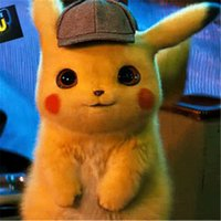 brinquedos de material de anime venda por atacado-20-50 cm Detetive Pikachu Plush Dolls Brinquedos Dos Desenhos Animados Pikachu Bichos de Pelúcia Recheado Brinquedos de Natal Macios Brinquedos de Aniversário para Crianças Presentes