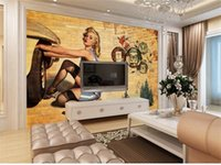 Wholesale mural painting wallpaper oil resale online - 3d photo wallpaper custom size mural movie star oil painting picture living Room sofa TV backdrop d wall murals wallpaper for walls d