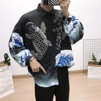 traditioneller kleidermann großhandel-3D Print Shirt Men 2019 Traditionelle afrikanische Männer Hemd Langarm Slim Fit Casual Mens Dress Shirts Camisas