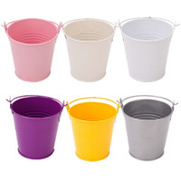Wholesale metal favor pail candy for sale - Group buy wedding favor mini tin candy buckets wedding pails wedding favor metal bucket candy box