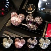 elmas çıkışları toptan satış-Kristal Araba Parfüm klip Araba Hava Spreyi elmas klima çıkış Kadın parfüm Kokuları Uçucu Yağlar Difüzör GGA1519