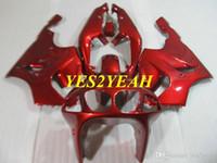 Wholesale motorcycle custom body kit resale online - Custom Motorcycle Fairing body kit for KAWASAKI Ninja ZX R ZX7R ZX R Red Fairings bodywork gifts KZ15