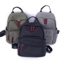 lona korean casual mochila venda por atacado-Oxford pano nova moda bolsa de ombro bolsa versão coreana do selvagem casual lona de nylon saco de estudante mochila