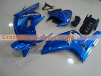 Wholesale 636 plastics kit for sale - Group buy New Injection ABS motorcycle fairings fit for kawasaki Ninja ZX6R ZX R set bodywork custom plastic fairing kits blue