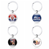 Wholesale keychain making for sale - Group buy Donald Trump Keychain Keep Make America Great Stainless Steel Trump Tag Key Ring Pendant Christmas Party Favor TTA1990