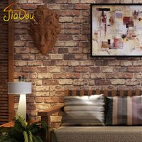 duvar kağıdı rustik toptan satış-Toptan Satış - Toptan-Tuğla Taş Duvar Kağıdı Çin Rustik Vintage 3D PVC Exfoliator Kabartmalı Yıkanabilir WallPaper Salon Backdrop WallCovering 10M