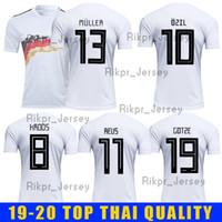 uniforme de alemania al por mayor-2019 2020 OZIL HUMMELS KROOS WERNER MULLER DRAXLER GeRMany Soccer Jersey 19-20 Inicio camiseta blanca Uniformes de fútbol Kit
