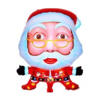 игрушечная елка оптовых-Santa Claus foil balloons merry Christmas party decoration helium balloon Christmas Tree big inflatable toy