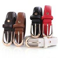 Wholesale jeans for boys resale online - INS student Belt CM Women PU leather belts colors men Belt Fashion girl boy waistband belts jeans strap for Christmas gift