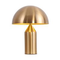 luz de escritorio al por mayor-Postmodern Minimalist Led Light Dormitorio Estudio Luz de mesa Personalidad nórdica Creative Mushroom Table Lamp Desk Desk Fixtures