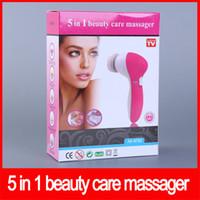 instruments de massage du visage achat en gros de-Épurateur électrique multifonction pour le visage Masseur de soins de beauté 5 en 1 Spa Soins de la peau