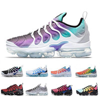 Wholesale running shoes usa resale online - TN Plus mint Grape Volt Hyper Violet Running Shoes USA Game Royal Wolf Grey Trainers Sports Sneakers