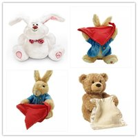 peek boo toys оптовых-Humor Ted Peek A Boo ,Bear,toys and gifts for Children,electronic,musical,flapping ears,talking and singing