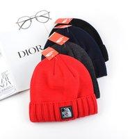 sombrero 24 al por mayor-Hombres NF N logo Fleece Beanies The North Knit Winter Skull Caps Brand Designer Trendy Headwear Face Ski Sports Outdoor Beanie Wear C81902