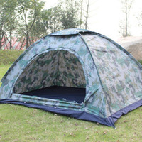 Wholesale two door tents resale online - 2 Person Camouflage Tent Outdoor Rain Proof Camping Tent Ultraviolet Protection Ventilation Window Mesh Easy Setup