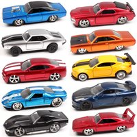 Wholesale ford toy cars resale online - 1 Scale Jada Plymouth Chevy Belair Camaro Dodge Charger ford mustang Pontiac Nissan GTR Diecasts Toy Vehicles car model toy T200110