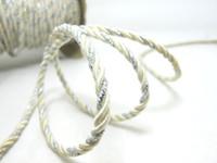 elfenbein griff großhandel-AUSVERKAUF | 5 Yards 3,5 mm Elfenbein und Silber Seilschnur | Schnur | Seil | Dekorative Seilschnur | Griffschnur | Bastelbedarf