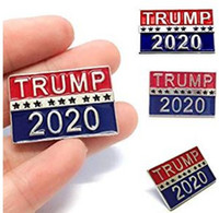 Wholesale red gemstone buttons for sale - Group buy President Donald Trump Buttons Pins White Blue for President Election Clothing Jeans Hat Bag Decor