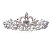 kostenlose köder des verschiffens großhandel-Neue Braut Hochzeit Kristall Strass Haar Stirnband Prinzessin Krone Kamm Tiara Prom Pageant 1 Stück Kostenloser Versand