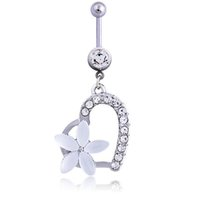 D0888-Retail ( 1 color) heart style belly ring Belly Button Navel Rings Body Piercing Jewelry Dangle Accessories Fashion Charm