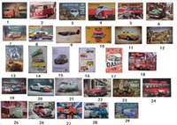 Wholesale car club tin signs resale online - vintage wall art metal tin signs metal painting car bus airplane retro painting club bar room decor plaque wall poster metal signs cars