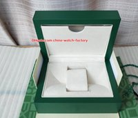 Wholesale watch box leather luxury resale online - Luxury High Quality Perpetual Watch Green Original Box Card Boxes Handbag For President Cosmograph Watches