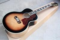 Wholesale 43 inch guitar resale online - SJ Plywood Acoustic Acoustic Guitar Inch Large Case Retro Color Plus Case