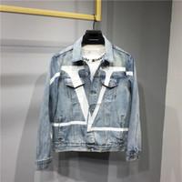 denim usa jeans großhandel-Europa USA heißen Verkauf limitierter Auflage klassischer zufälliger retro Jeans-Jacken Männer Tooling Feng Shui weiß Komfort übergroße Mäntel waschen