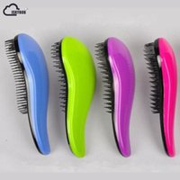 Wholesale tangle free combs resale online - ISKYBOB Portable Magic Handle Tangle Detangling Knot Free Hair Brush Comb Shower Salon Styling Tamer Tool popular Cosmetic