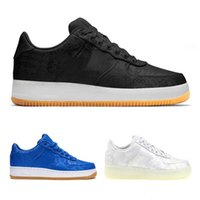 Wholesale game forces resale online - 2019 new CLOT x Forced WORLD Blue Silk Men Women s Running Shoes Game Royal Gum Light Black Sneakers Size