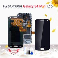 ecrã táctil lcd i9195 venda por atacado-Amouled lcd para samsung galaxy s4 mini i9190 i9192 i9195 display lcd de tela de toque digitador assembléia substituição com quadro + ferramentas