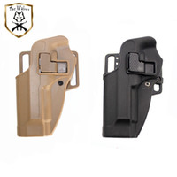 Wholesale holsters left hand resale online - Quick Drop M9 Holster Tactical Airsoft Hunting Equipment Army Beretta M9 Pistol Left Hand Holsters With Belt Paddle