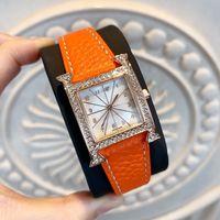 cuero de damas modernas al por mayor-Moda mujer vestido reloj de pulsera de calidad superior nuevo diseño reloj de lujo popular dama de moda reloj de cuero genuino estilo moderno clásico