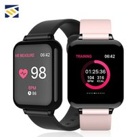 yeni fitness bandı toptan satış-2019 Yeni Bilezik Band Akıllı İzle Erkekler Su Geçirmez Nabız Kan Basıncı Spor B57 Smartwatches Kadınlar Için ios Android Xiaomi Hua