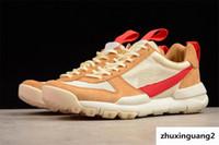 ingrosso migliori scarpe da campeggio-Le migliori scarpe da corsa Tom Sachs Craft Mars Yard 2.0 Space Camp, qualità autentica Aa2261-100 Sport naturale Acero rosso Scarpe sportive all'aperto