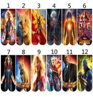 vingadores crianças venda por atacado-Mulheres homens Vingadores 4 Capitão Marvel 3D meias longas grandes crianças Como Treinar o Seu Dragão 3 Peçonhento Pikachu meias de skate 66 Estilo B11