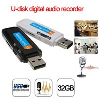 ingrosso schede mini registratore vocale-Mini Usb Disk Digital Audio Voice Recorder Caricatore per pen USB Flash Drive WAV Registrazione vocale supporto TF card fino a 32 GB