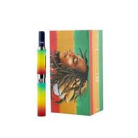 pipa de fumar de hierba electrónica al por mayor-Bob Marley vaporizador pen starter e cig herbal dry grass vape kit para fumar vapor kits snop g pipa de fumar cigarrillo electrónico vapor rainbow