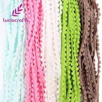 20 Yard 10MM PomPom Trim Ball Fringe Ribbon DIY Sewing Accessory Lace Gray B6