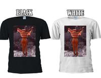 mulheres de colete de bandeira americana venda por atacado-Sexy Girl Bandeira Americana Tumblr T-shirt Das Mulheres Dos Homens Do Tanque Top Unisex 1312 Tamanho Discout Hot Novo Tshirt de Manga Curta Plus Size T-shirt