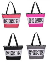 Wholesale beach works clothing for sale - 4 Colors Pink Letter Handbags Secret VS Shoulder Bags Pink Purse Totes Travel Duffel Bags Waterproof Beach Bag Women Shopping Bags Work Tote
