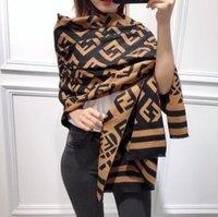 ingrosso maglione della nuova sciarpa di stile-Nuova imitazione cashmere Scialle donna inverno Sciarpe Plaid Sciarpa Caldo Morbido Inverno Coperte Sciarpe Sciarpe lavorate a maglia stile Euramerican