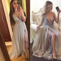 Kaufen Sie im Großhandel Backless Diamond Prom Kleider 2019